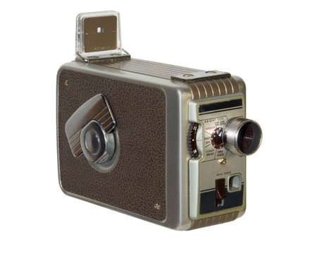 Old-fashioned home movie camera isolated on white background Reklamní fotografie