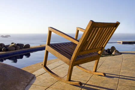 Great View of the ocean is available poolside at a resort in Costa Rica Stock Photo - 755063