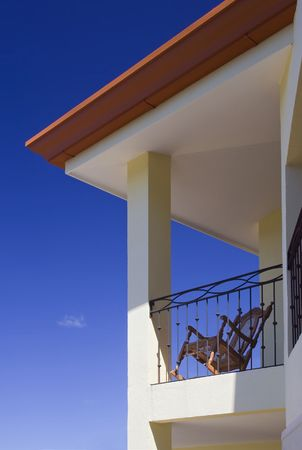 Large villa with a balcony for enjoying warm, tropical weather