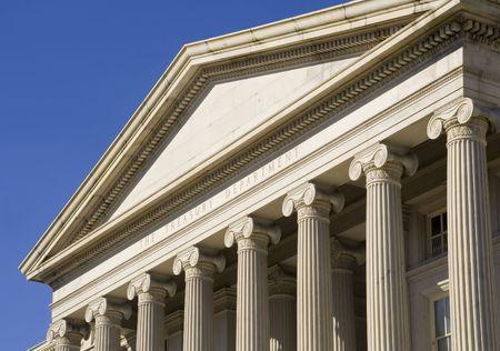 Le Département du Trésor, un immeuble de Washington, DC  Banque d'images