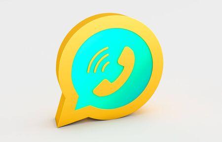 3d rendering  of golden logo isolated on white background