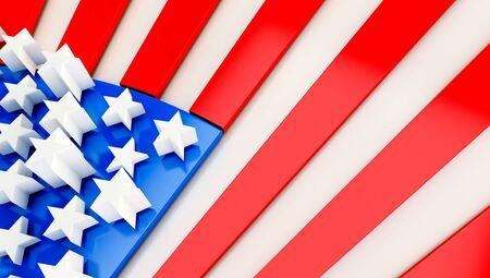 USA flag background. 3D render Standard-Bild