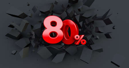 Up to 50% fifty Off word isolated on white background. Special Offer 50% Discount Tag, 3D render
