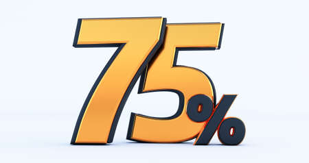 3d render of Discount forty-five 45 percent off isolated on white background