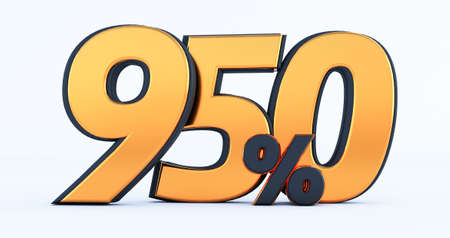3d render of Discount two hundred fifty 250 percent off isolated on white background Stockfoto