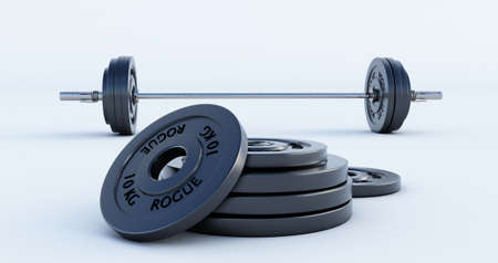 Weight for sport isolated on white background, Gym equipment, 3d render