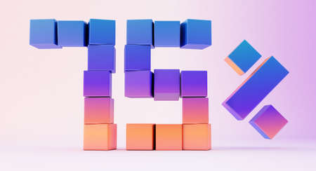 3d render of colorful cubes abstract background. Stockfoto