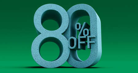 Up To 50% Off Special Offer, Sale Up to 50 Percent Off, 3d render Stockfoto
