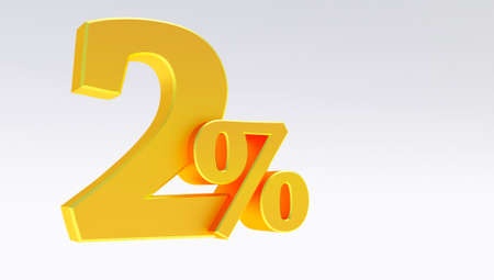 3d render of Gold eighty-five Percent off, Special Offer 85% Discount Tag, Sale Up to 85 Percent Off isolated on white background,