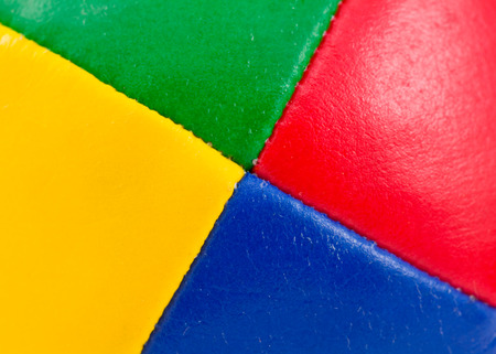 Vivid colors on leather separated into quadrants