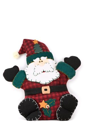 st nick: Stuffed toy of santa claus for Christmas
