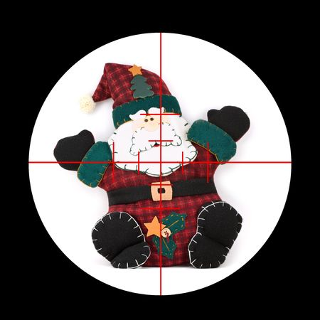 Youve got Santa Claus in your sights! Stock Photo