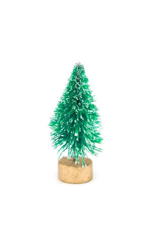 A Miniature Fake Flocked Christmas Tree Toy Stock Photo - 2379826