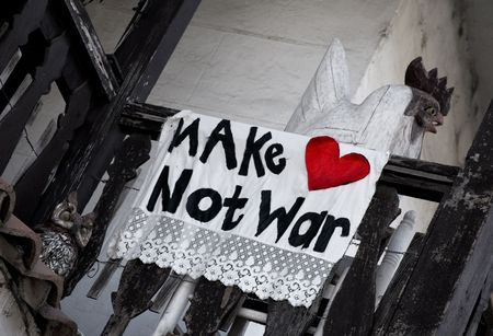 faire l amour: Protest Sign Proclamer Make Love Not War