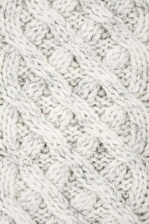 Closeup of Knitted Cables in a Sweater