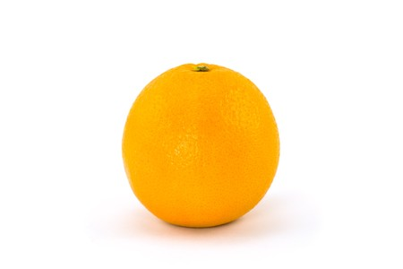 A Single Navel Orange Isolated on White Background photo