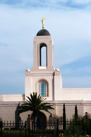 mormon: Newport Beach, CA LDS Temple (mormon) Stock Photo