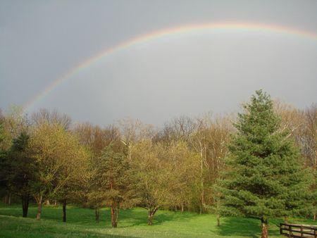 rainbow after quick summer storm