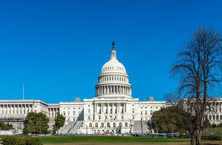 United States Capitol Building on Capitol Hill in Washington DC. Foto de archivo