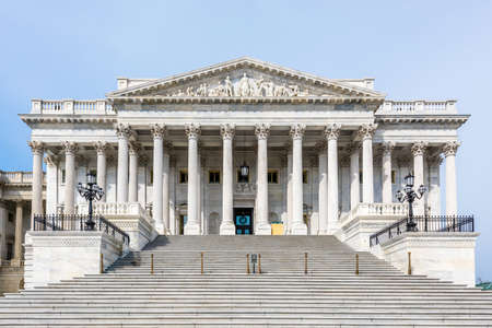 The steps leading up to the United States Senate in the Capital Building in Washington D.C. Foto de archivo