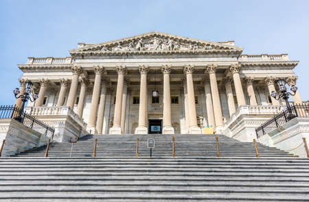 Steps leading to the United States House of Representatives in the Capital Building in Washington D.C.