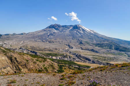 Mount Saint Helens National Park in the summer.