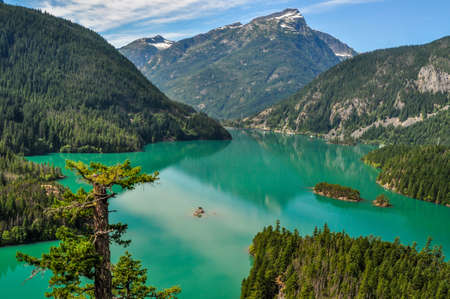 Ross Lake in the Northern Cascades National Park in the state of Washington.