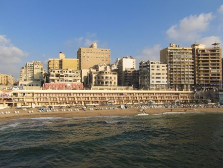 alexandria egypt: Stanley beach, Alexandria Egypt