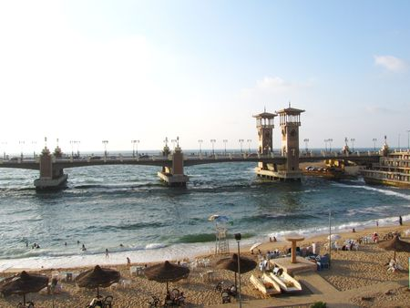 alexandria egypt: Stanley bridge, Alexandria Egypt