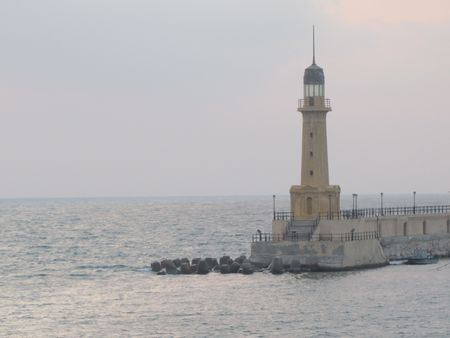 alexandria: Lighthouse in Montaza, Alexandria  Stock Photo