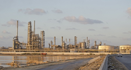 Road leading to Petrochemicals Plant Stock Photo - 10767574