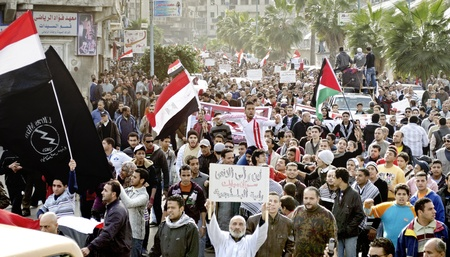 prosecution: Alexandria, Egypt - Dec 23, 2011 - Egyptian demonstrators protesting the army