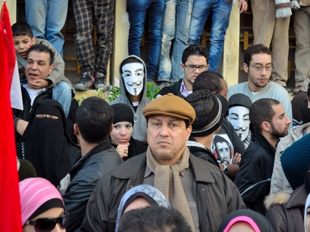 vendetta: Alexandria, Egypt - Nov 25, 2011 - Egyptian demonstrators commemorating the January 25th revolution calling for vendetta for the revolutions casualties Editorial