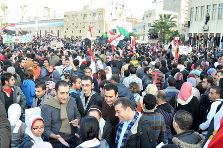 resignation: Alexandria, Egypt - Nov 25, 2011 - Egyptian demonstrating on the occasion of the first anniversary of the January 25th revolution demanding the resignation of the Supreme military council