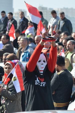 egypt revolution: Alexandria, Egypt - Nov 25, 2011 - Egyptian demonstrators commemorating the January 25th revolution and calling for revenge for the revolution