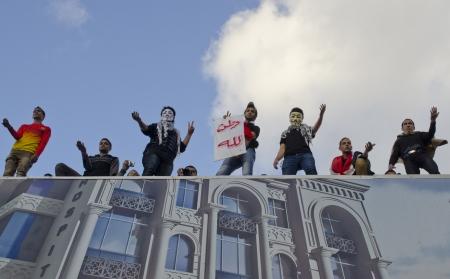 alexandria egypt: Alexandria, Egypt - December 7, 2012 -Demonstrations against President Morsi