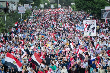 clashes: Alexandria, Egypt - June 30, 2013 - Egyptians demonstrate against president Morsi