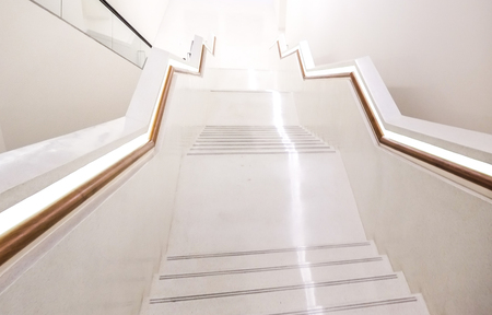 Stair way to heaven, white stairs modern style