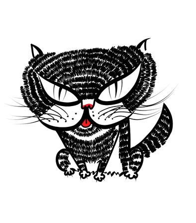 猫のイラスト 写真素材