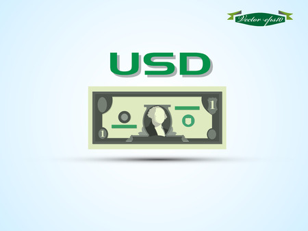 us dollar bill: USD paper money vector