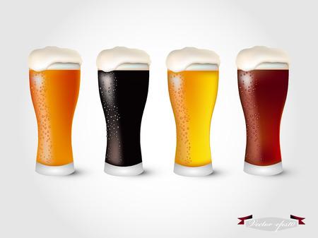 ビール ベクトルのガラス  イラスト・ベクター素材