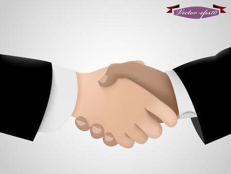 hand job: shake hand vector