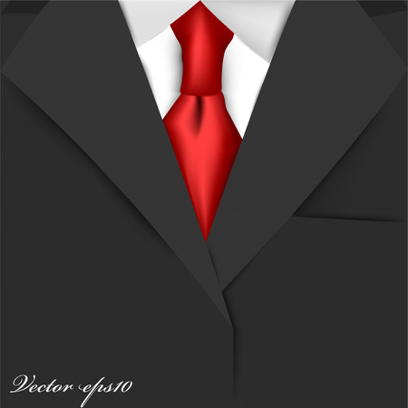 dinner wear: black suit Illustration