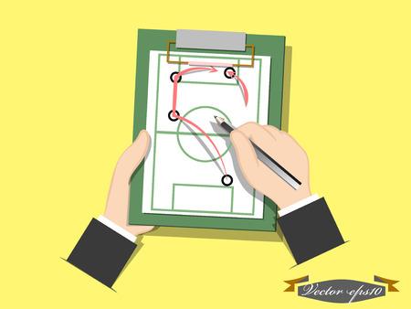 futbol soccer dibujos: vector de plan de f�tbol Vectores