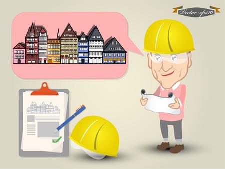 civil: civil engineer concept Illustration