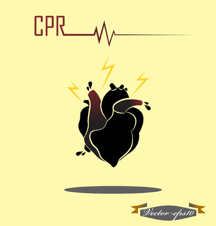 breathless: CPR concept Illustration