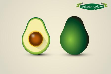 sliced: avocado and half avocado