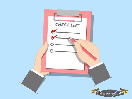 check list concept vector