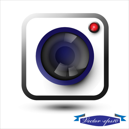 len: camera icon vector