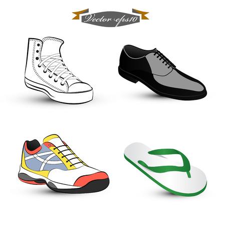 hombres corriendo: zapato vector Vectores
